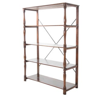 French 19th Century Large Pine & Oak Etagere For Sale