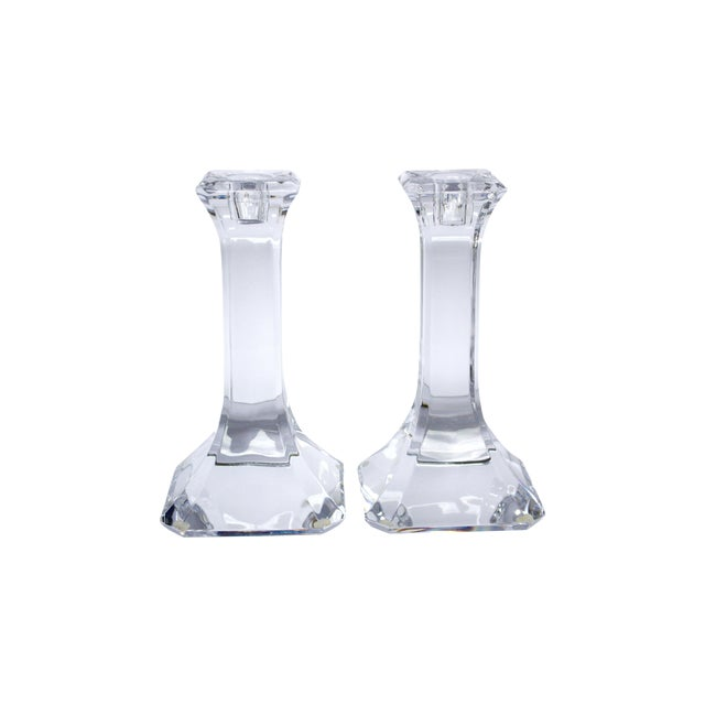 Orrefors Crystal Candlesticks - A Pair - Image 1 of 4