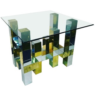 Paul Evans Two Tone Cityscape Dining Table For Sale