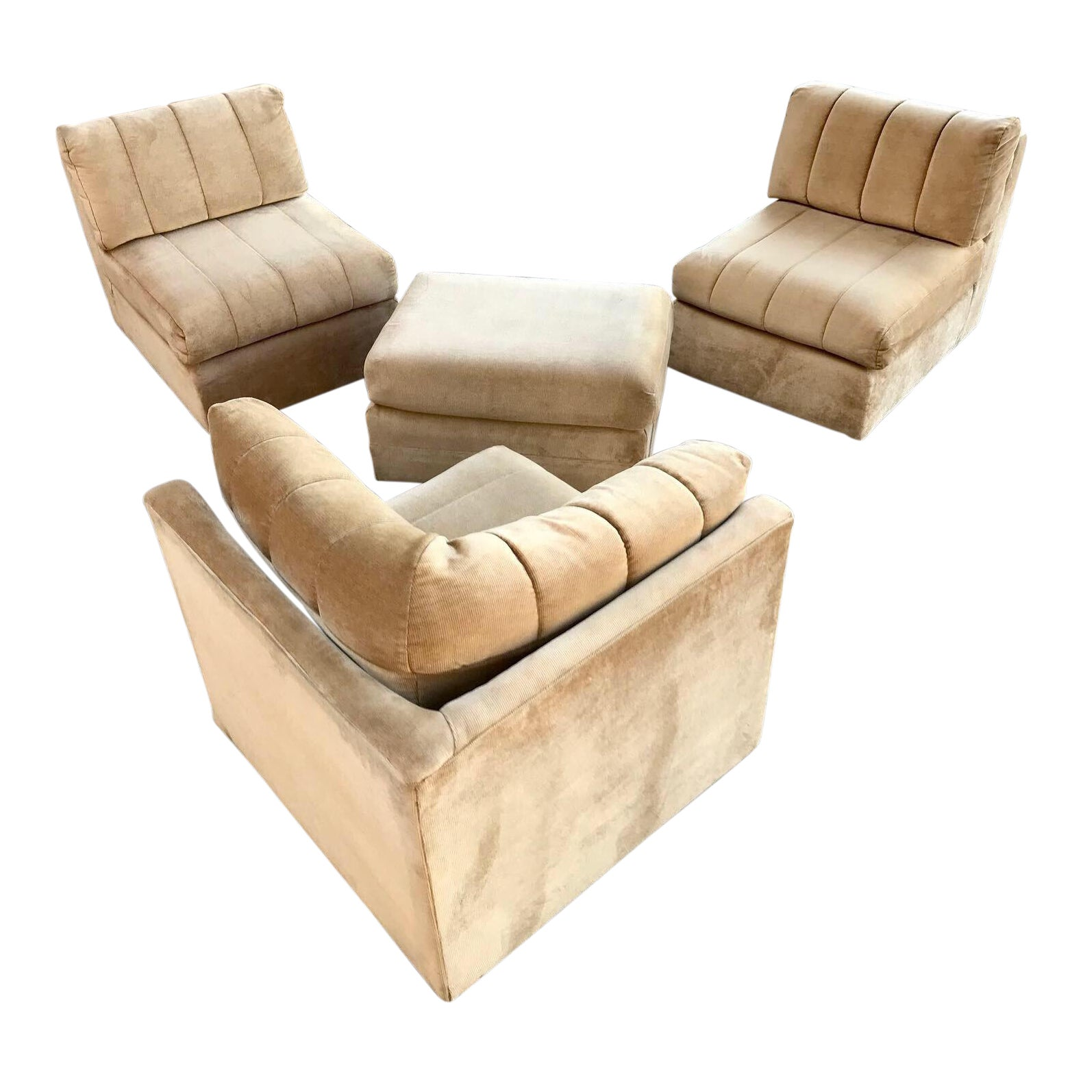 Vintage Broyhill Modular Sectional Sofa | Chairish