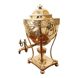 Regency Sheffield Silver Plate Hot Water Urn, England Circa 1820 For Sale