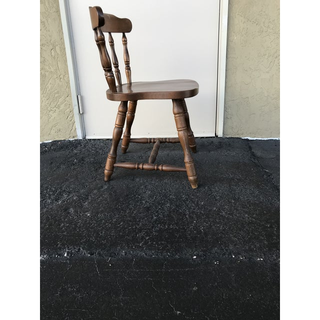 1950s Traditional Bistro Western Yugoslavia Windsor Chair For Sale - Image 4 of 13
