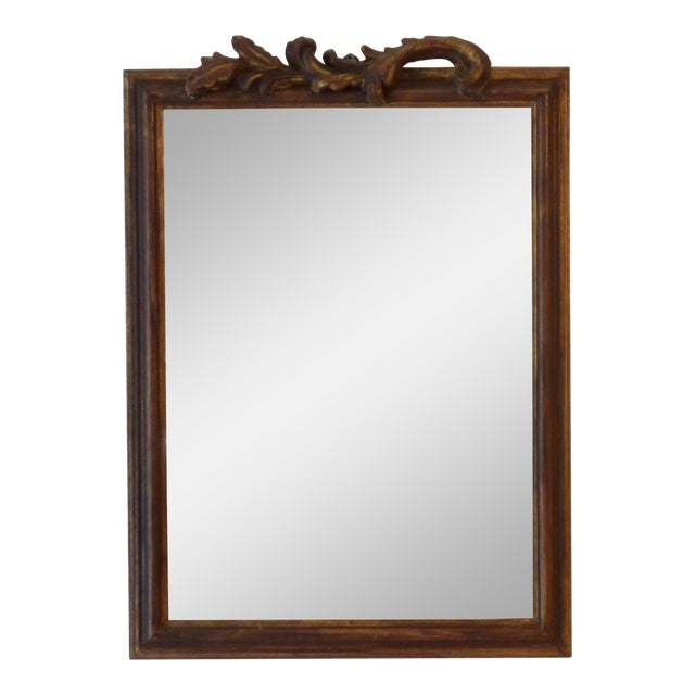 Italian Carved Wood Mirror - Image 1 of 5