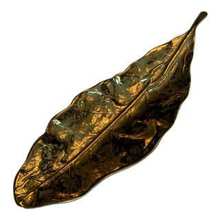 Mid 20th Century Virginia Metalcrafters Tobacco Leaf For Sale