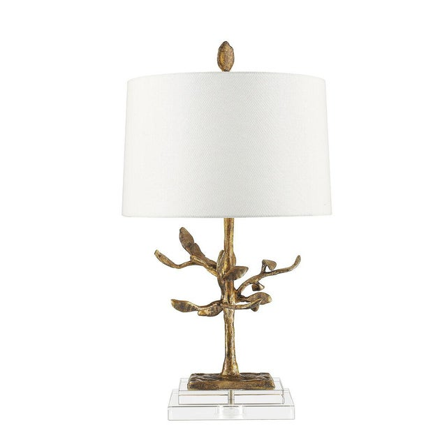 Audubon Park Nature Form Gold Plaster Table Lamp For Sale In Baton Rouge - Image 6 of 8