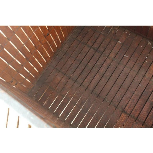 1930's Antique American Industrial Wood Crate For Sale - Image 4 of 4