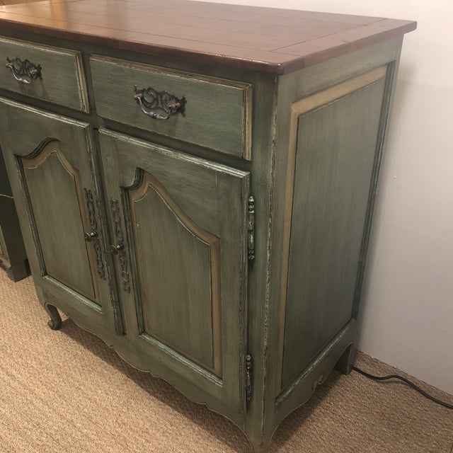 Green French Country Cupboard For Sale - Image 9 of 11