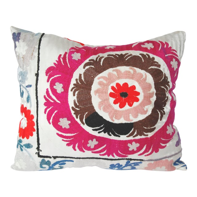 1970s Boho Chic Decorative Needlework Throw Sofa Pillow Cover For Sale
