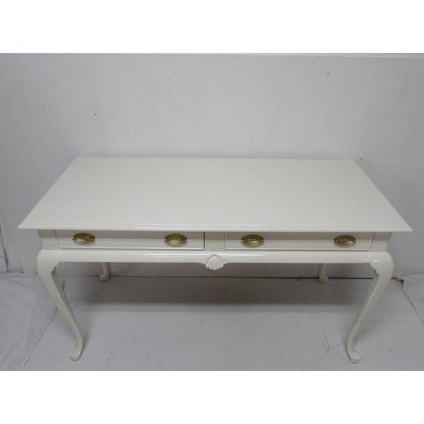Wood Drexel Lacquered 2-Drawer Desk For Sale - Image 7 of 7