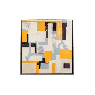Gray & Yellow Abstract by Christopher Shoemaker For Sale