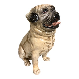 1960s Italian Terracotta Pug Dog For Sale