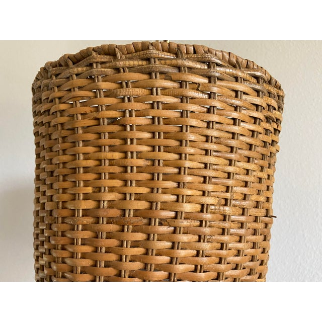 Nautical Wicker Top Hat Pendant Light For Sale - Image 3 of 10