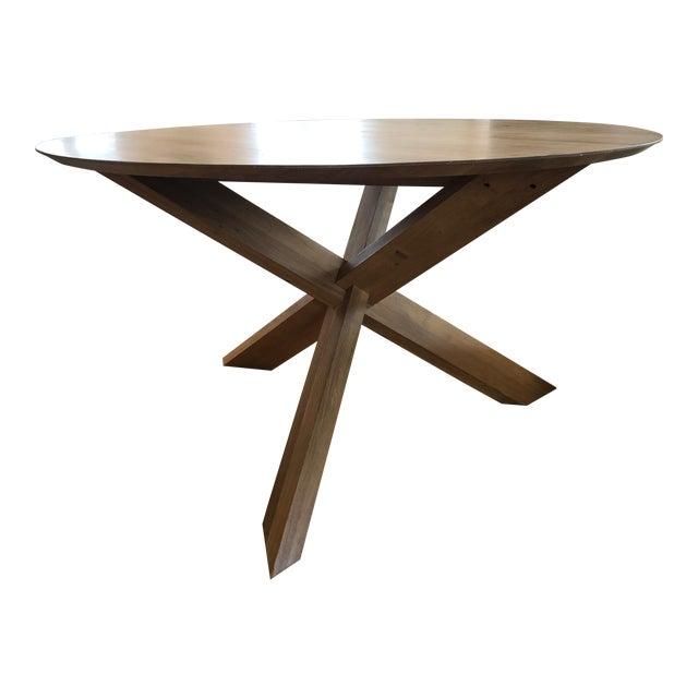Lekker Home Handcrafted Oak Dining Table For Sale