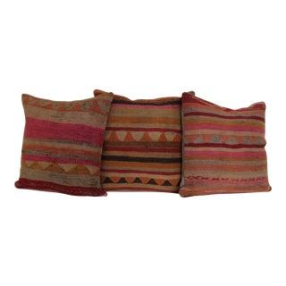Turkish Kilim Pillow Covers - Set of 3
