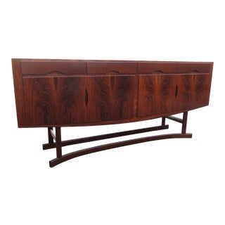 Danish Modern Rosewood Credenza Sideboard Buffet Tv Media Console For Sale