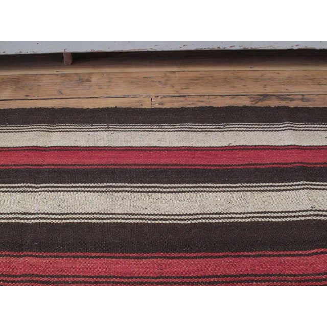 1960s Large Kilim with Vertical Bands For Sale - Image 5 of 6