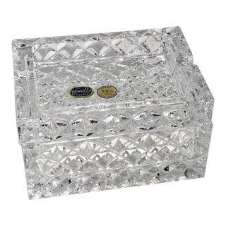 Lead Crystal Bohemia Czech Republic Trinket Box For Sale
