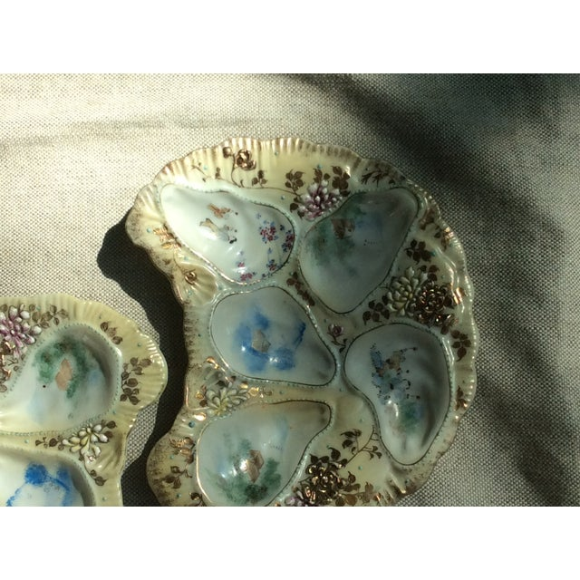Antique French Porcelain Oyster Plates - a Pair For Sale - Image 4 of 12