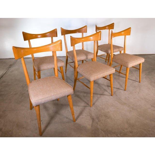 Paul McCobb for Directional set of 6 chairs. Mid-Century modern style. Made in the USA circa 1950s. Newly recovered.