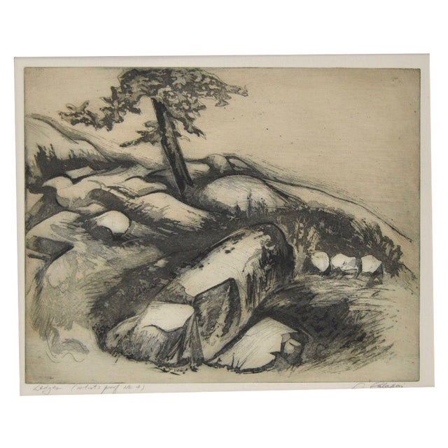 """""""Ledges"""" Etching by Letterio Calapai For Sale"""