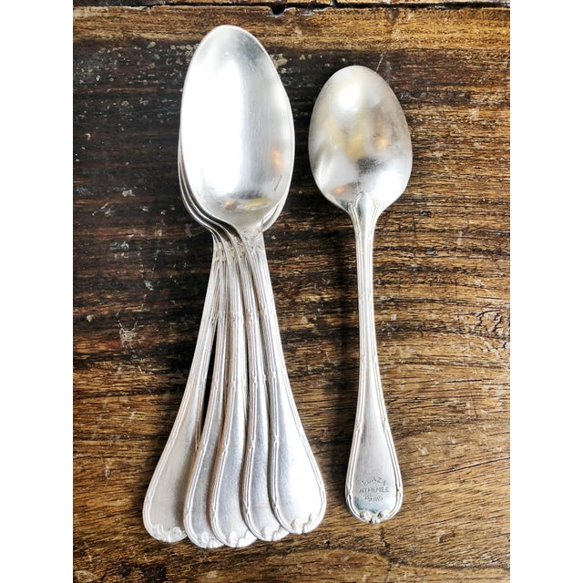 Metal 1910s Christofle Silver Flatware Service for 6 From Plaza Athenee Hotel Paris - Set of 24 For Sale - Image 7 of 12