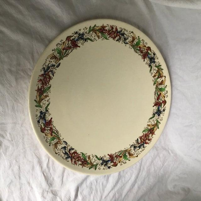 Royal Doulton Tintern Made in England round flower pattern round 5609 platter transfer ware transferware Royal Doulton...