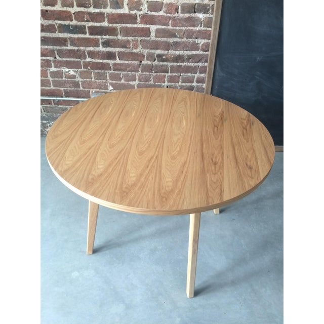 Mid-Century Modern Round Wood Table - Image 3 of 3