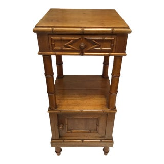 19th Century Faux Bamboo Night Stand For Sale