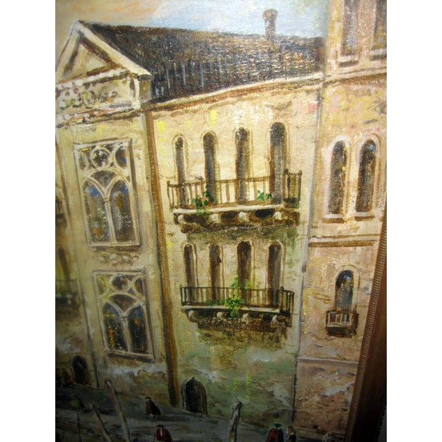 Late 20th Century Valerio Zerbo San Marco Piazza Large Oil Painting For Sale - Image 10 of 12