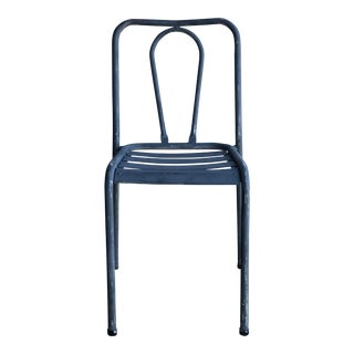 Grey Iron Bistro Chair