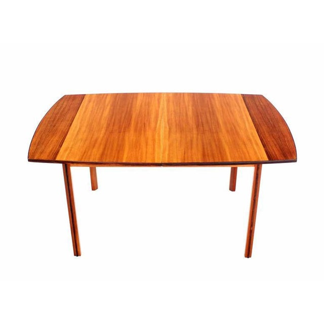 Sophisticated Striped Pattern Rosewood And Teak Danish Modern Dining - Danish modern dining table with leaves