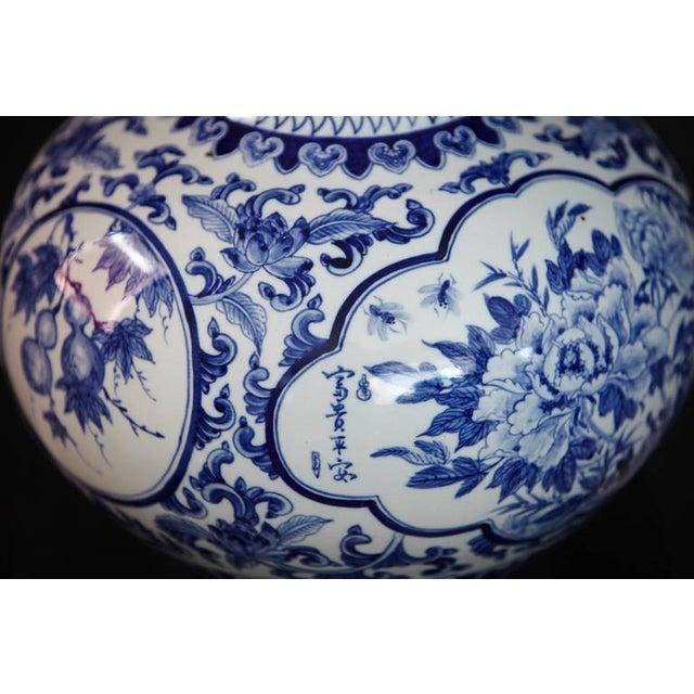 Japanese Blue and White Porcelain Vase - Image 6 of 8