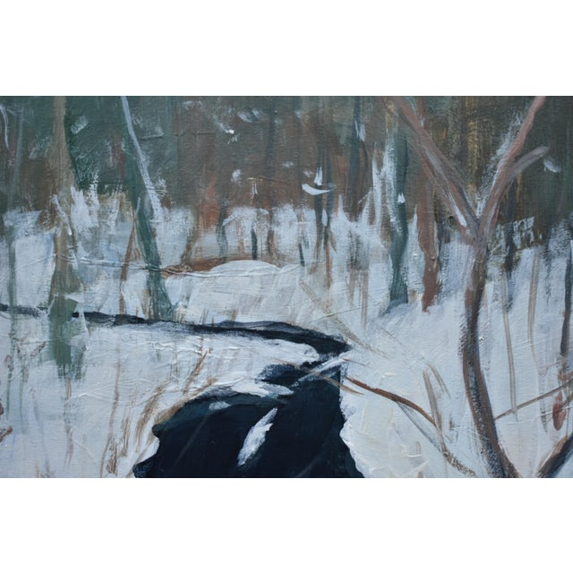 "Stephen Remick Stephen Remick ""Bend at Destruction Brook"" Contemporary Painting For Sale - Image 4 of 9"