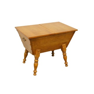 Columbia Manufacturing Co. Hard Rock Maple Doughbox End Table For Sale