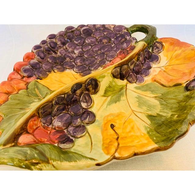 Majolica Certified International Large Majolica 2 Part Serving Platter For Sale - Image 4 of 5