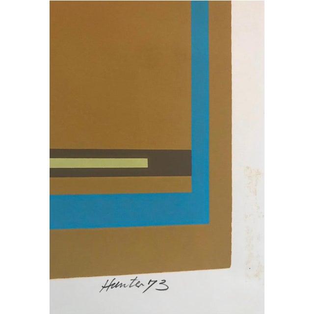 Mid-Century Modern Mid-Century Modern Robert Hunter Serigraph - 1973 For Sale - Image 3 of 6