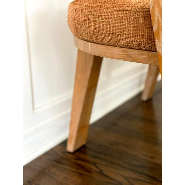 Mid Century Modern Cerused Oak Sculptural French Chairs - a Pair For Sale - Image 9 of 11