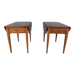 Hickory Chair Co. Mahogany Hepplewhite Style Pembroke Tables - a Pair For Sale