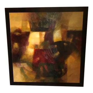 Contemporary Abstract Acrylic on Canvas Framed Painting For Sale