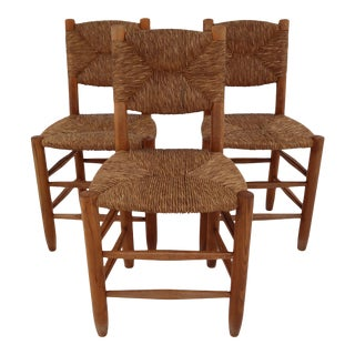 """Bauche"" Chairs by Charlotte Perriand for Steph Simon, France 1950s - Set of 3 For Sale"