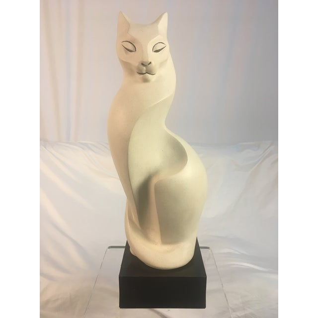 Wood 1980s Mid-Century Style Cat Sculpture For Sale - Image 7 of 7