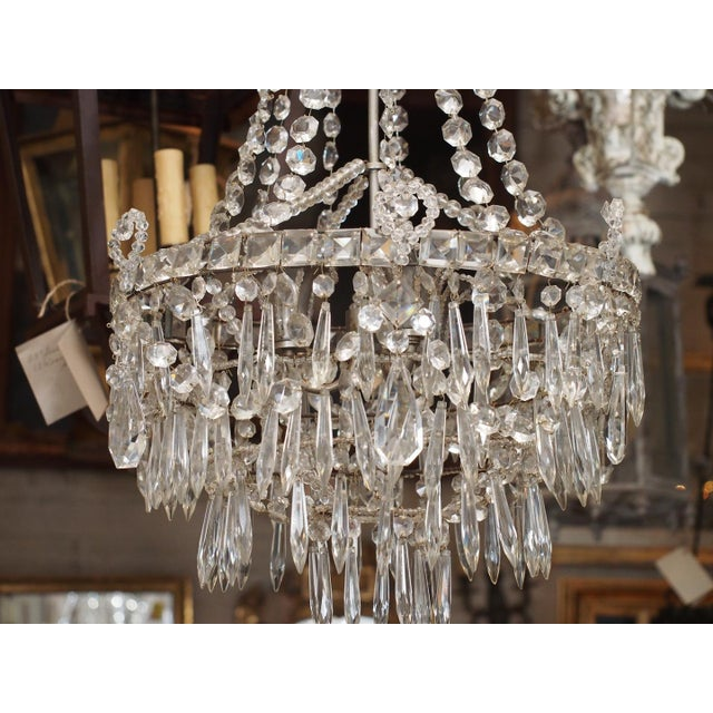 French Early 19th Century French Crystal Chandelier For Sale - Image 3 of 6