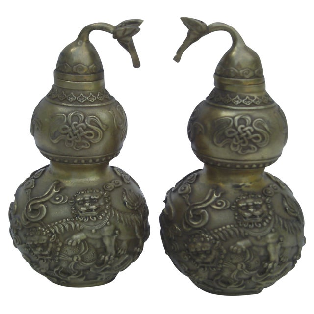 Bronze Covered Jars - A Pair - Image 1 of 10