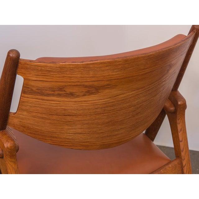 Animal Skin Hans J. Wegner Ch-28 Armchair for Carl Hansen & Son For Sale - Image 7 of 12