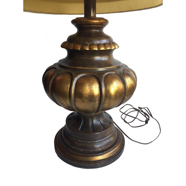 Vintage Table Lamp with Original Shade For Sale - Image 4 of 6