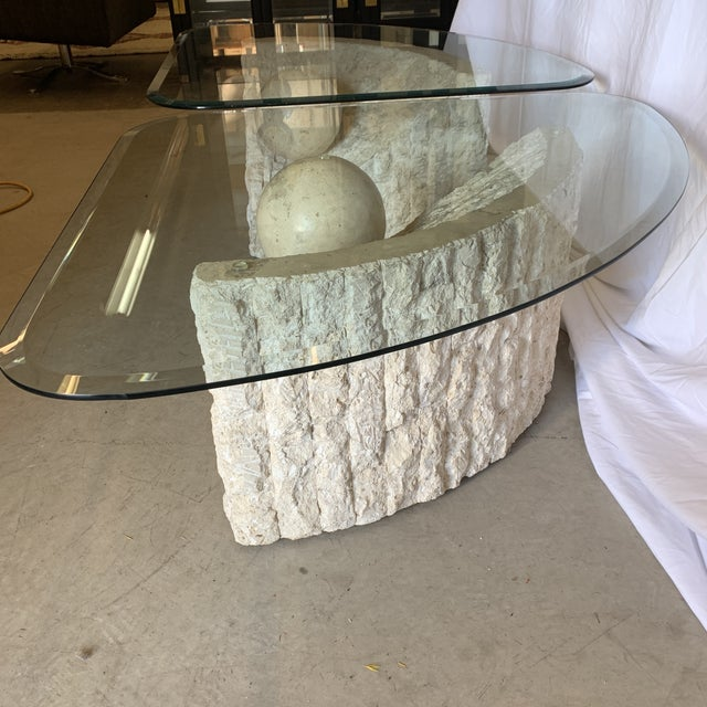 Antique White Vintage Post Modern Tessellated Stone Coffee End Tables - a Pair For Sale - Image 8 of 13