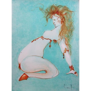 1972 Leonor Fini Pencil Signed Original Lithograph, Pseudo Sonnet Avec Un Intermede For Sale