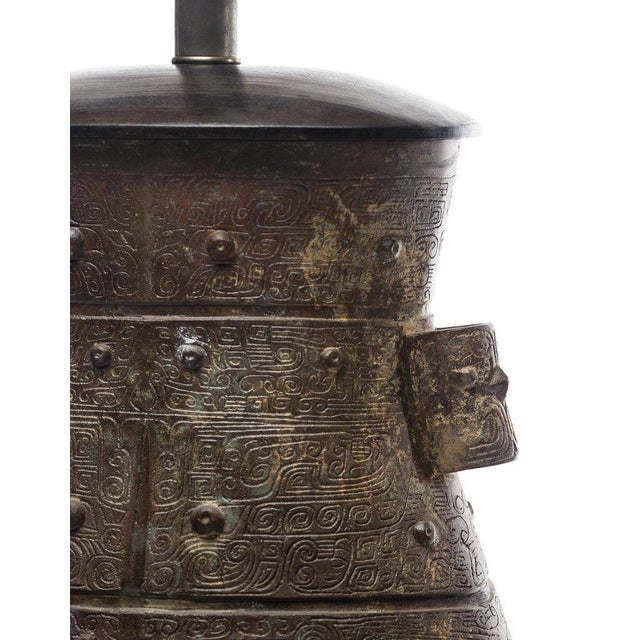 Lawrence & Scott Lawrence & Scott Hogo Table Lamp in Archaic Bronze For Sale - Image 4 of 6