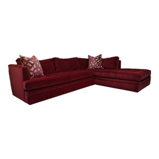 Highland House Custom Sectional Sofa With Pillows For Sale