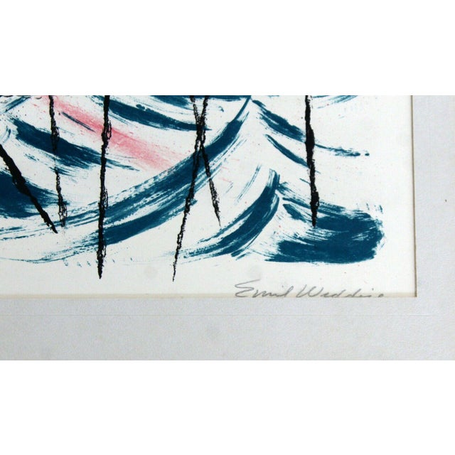 """Mid Century Modern """"Summer Patterns"""" by Emil Weddige Unframed Lithograph For Sale - Image 4 of 5"""